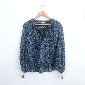 Rebecca Taylor silk floral print blouse - size 6